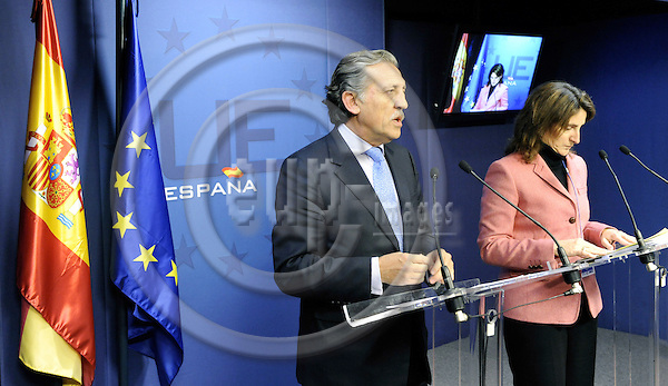 Brussels-Belgium - 11 December 2008 -- European Council, EU-summit under French Presidency; here, Spanish State Secretaries Diego LÒPEZ GARRIDO (le) - in charge of European Affairs, and Teresa RIBERA (ri) - in charge of Climate Change -- Photo: Horst Wagner / eup-images