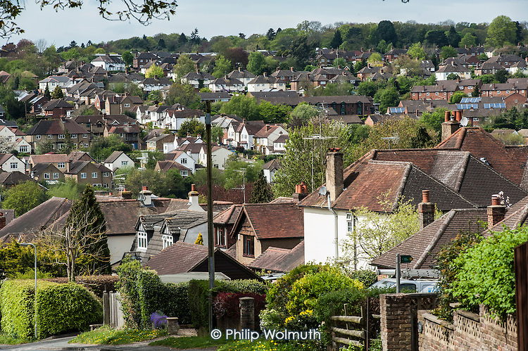 High value housing in the village of Chalfornt St Peter in the Chiltern District of Buckinghamshire.