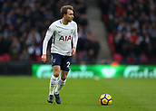 9th December 2017, Wembley Stadium, London England; EPL Premier League football, Tottenham Hotspur versus Stoke City; Christian Eriksen of Tottenham Hotspur on the ball