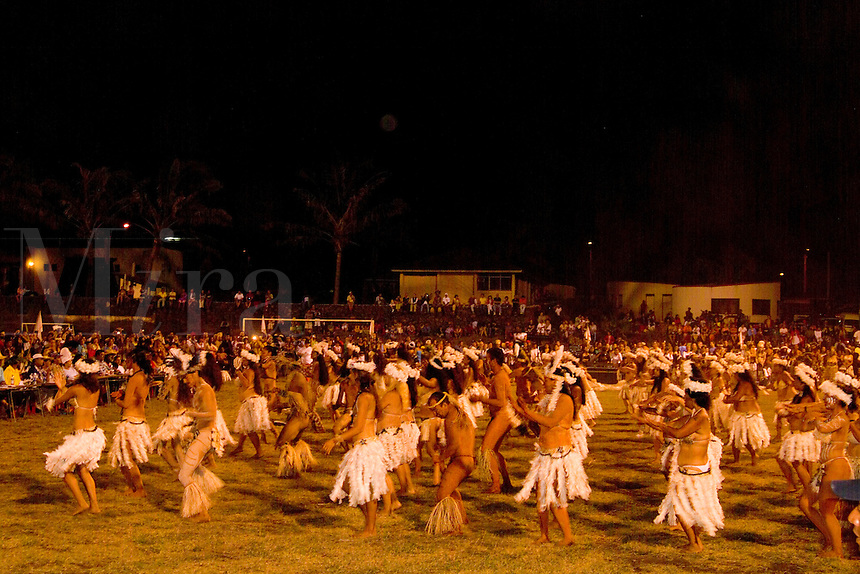 Natives Participating in Tapati Festival Easter Island during Rapa Nui