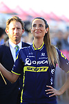 Orica-Scott at the Team Presentation in Alghero, Sardinia for the 100th edition of the Giro d'Italia 2017, Sardinia, Italy. 4th May 2017.<br /> Picture: Eoin Clarke | Cyclefile<br /> <br /> <br /> All photos usage must carry mandatory copyright credit (&copy; Cyclefile | Eoin Clarke)