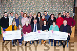 Mid Kerry Vintage committee presented the proceeds to the charities in Castlemaine Community Centre on Thursday night front row l-r: Siobhain and Aine McSweeney Recovery Haven, Sr Helena St Josephs home, Theresa Walsh Onoclogy Unit KUH, Maria Coleman Castlemaine Community Centre and Michael McKenna