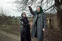 UKRAINE, Chernobyl, Strakholissia village 2010/04/6<br /> LIFE IN ZONE - Funeral in village Strakholissia on border to the Zone of Alienation, Strakholissia, April 6, 2010. <br /> © Vaclav Vasku/EST&OST