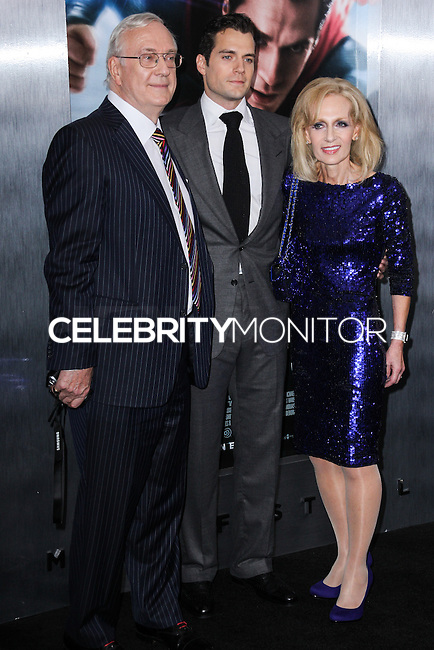 """NEW YORK, NY - JUNE 10: Colin Cavill, Henry Cavill and Marianne Cavill attend the """"Man Of Steel"""" World Premiere at Alice Tully Hall at Lincoln Center on June 10, 2013 in New York City. (Photo by Celebrity Monitor)"""