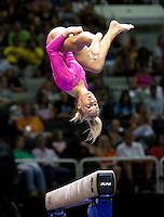 Nastia Liukin of WOGA competes on the beam during the 2012 US Olympic Trials competition at HP Pavilion in San Jose, California on June 29th, 2012.