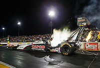 Jul 29, 2016; Sonoma, CA, USA; NHRA top fuel driver Steve Torrence sets a national record with a 3.671 second elapsed time during qualifying for the Sonoma Nationals at Sonoma Raceway. Mandatory Credit: Mark J. Rebilas-USA TODAY Sports
