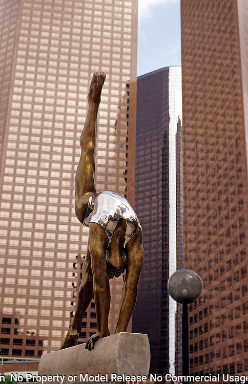 Downtown Los Angeles gymnast sculpture