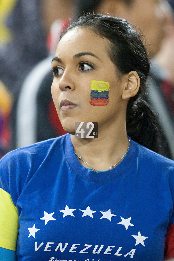 21 March 2009: A fan of Team Venezuela looks disappointed at the end of the 2009 World Baseball Classic semifinal game at Dodger Stadium in Los Angeles, California, USA. Korea wins 10-2 over Venezuela.