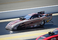 Apr. 14, 2012; Concord, NC, USA: NHRA top alcohol funny car driver Chris Foster during qualifying for the Four Wide Nationals at zMax Dragway. Mandatory Credit: Mark J. Rebilas-