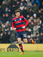 QPR Pawel Wszolek after scoring second goal for his team during the Sky Bet Championship match between Fulham and Queens Park Rangers at Craven Cottage, London, England on 17 March 2018. Photo by Andrew Aleksiejczuk / PRiME Media Images.