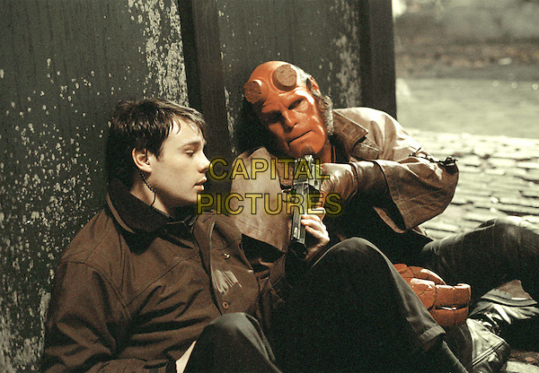 RUPERT EVANS & RON PERLMAN.in Hellboy.Filmstill - Editorial Use Only.Ref: FB.www.capitalpictures.com.sales@capitalpictures.com.Supplied by Capital Pictures