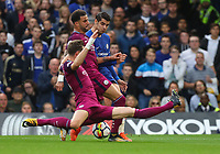 Alvaro Morata of Chelsea has his attempt blocked by a combination of Kyle Walker and John Stones of Manchester City <br /> Calcio Chelsea - Manchester City Premier League <br /> Foto Phcimages/Panoramic/insidefoto