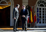 The President of the republic of Potugal Pedro Passos Coleho visit the president of Spain Mariano Rajoy in Moncloa Palace. 2015703/04. Samuel de Roman / Photocall3000.