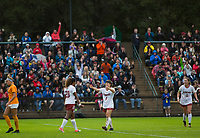 STANFORD, CA - November 23, 2018: Catarina Macario, Jaye Boissiere at Laird Q. Cagan Stadium. The top seeded Stanford Cardinal defeated the Tennessee Volunteers 2-0 in the Quarterfinal of the NCAA tournament.
