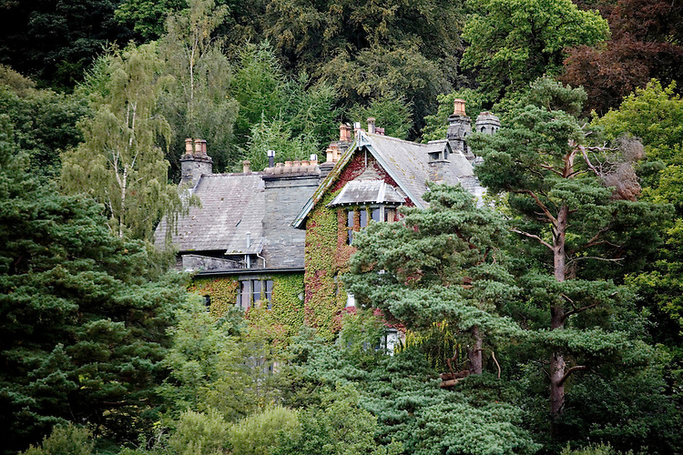Rustic Lodge above Lake Derwentwater, near Keswick, Lake District, England.