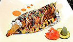 A dragon fire roll is plated.  (DOUG WOJCIK)