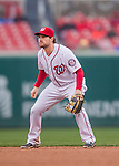 28 April 2016: Washington Nationals second baseman Daniel Murphy in action against the Philadelphia Phillies at Nationals Park in Washington, DC. The Phillies shut out the Nationals 3-0 to sweep their mid-week, 3-game series. Mandatory Credit: Ed Wolfstein Photo *** RAW (NEF) Image File Available ***