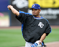 Omaha Royals Andres Blanco #13 during practice before the Triple-A All-Star Game at Fifth Third Field on July 12, 2006 in Toledo, Ohio.  (Mike Janes/Four Seam Images)