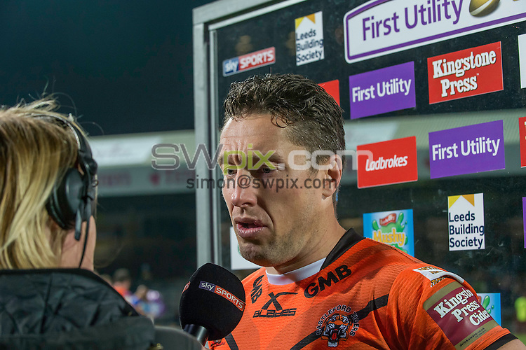 Picture by Allan McKenzie/SWpix.com - 12/05/2016 - Rugby League - First Utility Super League - Leeds Rhinos v Castleford Tigers - Headingley Carnegie Stadium, Leeds, England - Castleford's Luke Dorn is interviewed post match.
