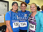 Janice Commons, Laura Conlon and Eileen Sheehy who took part in the Seamie Weldon memorial run at St. Mary's GAA club Ardee. Photo:Colin Bell/pressphotos.ie