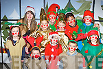 All dressed up for the Santa's visit to Kenmare on Saturday evening were Emmet Johnson, Sienna Ryan, Jack O'Sullivan. Back row: Sophie Ryan, Vada Randles, Frederique Offereins, Clodagh Ryan, Leah Donovan, Rowan Johnson, Rebecca O'Sullivan and Simone O'Sullivan