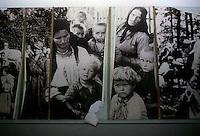 Jasenovac / Croazia.Il Campo di concentramento di Jasenovac fu il più grande campo di concentramento costruito nei Balcani durante la seconda guerra mondiale, creato dallo Stato Indipendente di Croazia, retto di fatto da Ante Paveli, alleato delle potenze dell'Asse..Si trova nei pressi dell'omonimo paese sulle rive del fiume Sava, ad un centinaio di chilometri a sud-est di Zagabria, vicino all'attuale confine croato-bosniaco..Venne edificato tra l'agosto '41 e il febbraio '42. I primi 2 campi, Krapje e Broica, furono chiusi nel novembre del 1941, mentre i 3 campi più nuovi continuarono a funzionare fino alla fine delle ostilità, nell'aprile 1945..Nella foto una rara immagine delle vittime conservata nel Museo del Campo di sterminio di Jasenovac..Foto Livio Senigalliesi..Jasenovac / Croatia.Jasenovac concentration camp was the largest extermination camp in the Independent State of Croatia (NDH) and occupied Yugoslavia during World War II. The camp was established by the Croatian Ustasha regime in August 1941 and dismantled in April 1945. In Jasenovac, the largest number of victims were ethnic Serbs, whom Ante Paveli considered the main racial opponents of Croatia, alongside the Jews and Roma peoples..Jasenovac was a complex of five subcamps spread over 240 km2 on the banks of the Sava River. The largest camp was at Jasenovac, about 100 km southeast of Zagreb. The complex also included large grounds at Donja Gradina directly across the Sava River, a camp for children in Sisak to the northwest, and a women's camp in Stara Gradika to the southeast.In the picture some rare photos of the victims shot by Nazi preserved in Jasenovac camp Museum..Photo Livio Senigalliesi