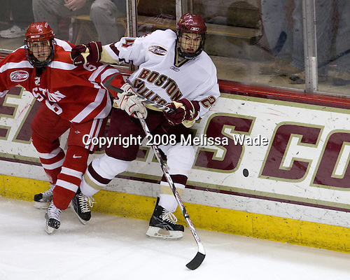 Joe Pereira (Boston University - 6), Matt Lombardi (Boston College - 24) - The Boston University Terriers defeated the Boston College Eagles 3-1 at Kelley Rink in Conte Forum in Chestnut Hill, Massachusetts.