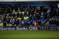 Millwall fans pay their respects to Gordon Banks who died today with a minute's applause pre-match during Millwall vs Sheffield Wednesday, Sky Bet EFL Championship Football at The Den on 12th February 2019