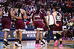 DALLAS, TX - MARCH 31:  Head coach Vic Schaefer of Mississippi State University coaches his team during the 2017 Women's Final Four at American Airlines Center on March 31, 2017 in Dallas, Texas. (Photo by Justin Tafoya/NCAA Photos via Getty Images)