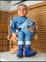 BNPS.co.uk (01202 558833)<br /> Pic: TomWren/BNPS<br /> <br /> Duncan was commissioned to make a puppet of Eamonn Holmes.<br /> <br /> A Thunderbirds fanatic who always dreamt of owning an original Parker puppet now earns a living making them for fellow fans.<br /> <br /> Duncan Willis, 59, made his first puppet 15 years ago and his hobby has grown into a business where he creates puppets of the show's best-loved characters including Parker, Lady Penelope and Jeff Tracy. <br /> <br /> Mr Willis makes and sells about 20 Thunderbirds puppets a year at his home in Whiteley, Hampshire, together with elaborate props for them because he doesn't want them to be stood 'with a rod up their backside'. <br /> <br /> The puppets, which measure between 19 and 23in, take him four to six weeks to craft and cost in the region of &pound;900.