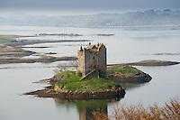 Castle Stalker ,Loch Laich,  Portnacroish, Highlands, Scotland. Castle Aargh in Monty Python film The Holy Grail.