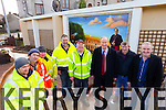 Kerry County Council staff Brian Duncan, Brendan Brosnan, Danny Donoghue, John Kerins, Conor O'Donoghue, Jim Finucane, Mayor, Murty Quirke and Frank Hartnett at the garden next to the small roundabout at Strand Street, Tralee dedicated to Monsg Hugh O'Flaherty, who spent some of his early years living across the road.