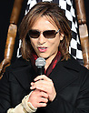 "December 24, 2016, Tokyo, Japan - Yoshiki, a member of Japanese rock group ""X Japan"" speaks as he attends an opening event to promote his designed kimono dress ""Yoshikimono"" at the Isetan department store in Tokyo on Monday, December 26, 2016. Business of Yoshiki's parents was kimono fabrics shop, but he did not take over his family business.  (Photo by Yoshio Tsunoda/AFLO) LWX -ytd-"