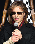 """December 24, 2016, Tokyo, Japan - Yoshiki, a member of Japanese rock group """"X Japan"""" speaks as he attends an opening event to promote his designed kimono dress """"Yoshikimono"""" at the Isetan department store in Tokyo on Monday, December 26, 2016. Business of Yoshiki's parents was kimono fabrics shop, but he did not take over his family business.  (Photo by Yoshio Tsunoda/AFLO) LWX -ytd-"""