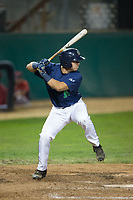 Kenny Corey (10) of the Helena Brewers at bat against the Orem Owlz at Kindrick Legion Field on August 17, 2017 in Helena, Montana.  The Owlz defeated the Brewers 5-2.  (Brian Westerholt/Four Seam Images)