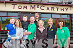 The staff of Tom McCarthy's bar, Castleisland who celebrated the bars 60th anniversary on Tuesday l-r: Ben, Louise, Tom Jnr, Tom McCarthy, Jamie O'Neill, Mary, Breda and Bernie McCarthy