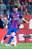 Leo Messi of FC Barcelona in action during the match of  Copa del Rey (King's Cup) Final between Deportivo Alaves and FC Barcelona at Vicente Calderon Stadium in Madrid, May 27, 2017. Spain.. (ALTERPHOTOS/Rodrigo Jimenez) /NortePhoto.com