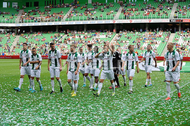 GRONINGEN - Voetbal, FC Groningen - Aston Villa, voorbereiding seizoen 2014-2015, 02-08-2014,  spelerspresentatie