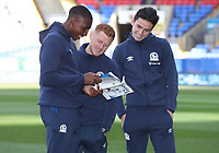 Blackburn Rovers' Amari'i Bell, Blackburn Rovers' Harrison Reed, Blackburn Rovers' Lewis Travis<br /> <br /> Photographer Rachel Holborn/CameraSport<br /> <br /> The EFL Sky Bet Championship - Bolton Wanderers v Blackburn Rovers - Saturday 6th October 2018 - University of Bolton Stadium - Bolton<br /> <br /> World Copyright &copy; 2018 CameraSport. All rights reserved. 43 Linden Ave. Countesthorpe. Leicester. England. LE8 5PG - Tel: +44 (0) 116 277 4147 - admin@camerasport.com - www.camerasport.com