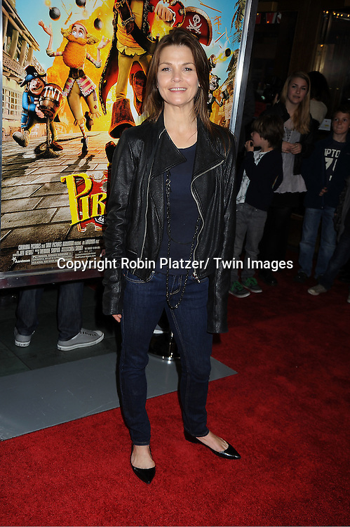 """actress Kathryn Erbe attends a special screening of """" The Pirates! Band of Misfits"""" on April 22, 2012 at The AMC Empire Theatre in New York City. Hugh Grant is the star of the movie."""