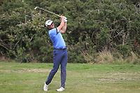 Robbie Cannon (Balbriggan) on the 7th fairway during the 1/4 Finals of the AIG Irish Close Championship at the European Club, Brittas Bay, Wicklow, Ireland on Monday 6th August 2018.<br /> Picture: Thos Caffrey / Golffile<br /> <br /> All photo usage must carry mandatory copyright credit (&copy; Golffile | Thos Caffrey)