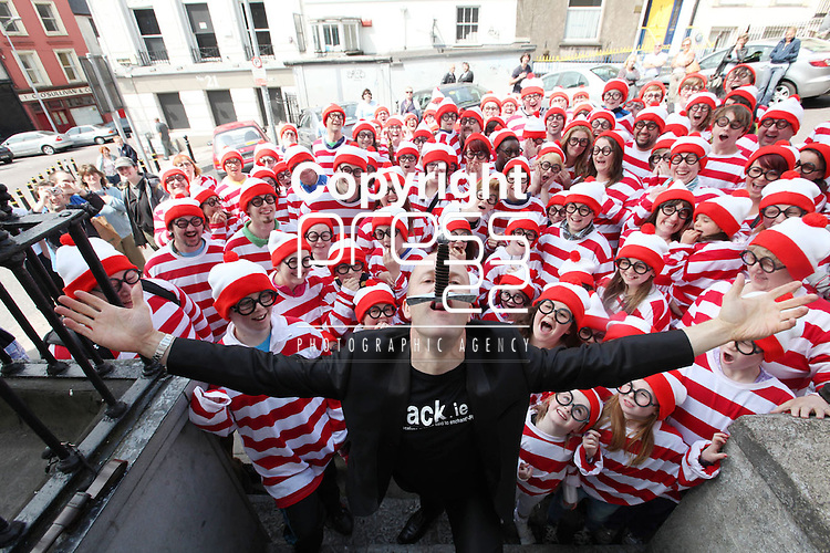 Free Pics     With Compliments<br /> Cork City was awash with Wallys on Sunday, 4th June 2011 as a striped and spectacled Where&rsquo;s Wally troop from Cork marched up Patrick&rsquo;s Hill with Jack Wise Street Performance World Champion 2010 to launch the Street Performance World Championship event, which takes place in Fitzgerald Park, Cork City on June 11th and 12th. The Wallys were on hand to sit, stand, salute, sing and do a little dance, not only to remind people what a full on fun day out for all the family the SPWC will be but also to launch the Where&rsquo;s Wally World Record attempt, which takes place in Cork on Sunday, 12th June as part of the event&rsquo;s thrill packed programme. People who wish to participate in the Where&rsquo;s Wally World Record attempt in Cork can buy their costume on www.spwc.ie for &euro;12. Profits from the sales of the Wally costumes go to Africa Aware.<br /> Pic. Brian Arthur/ Press 22.