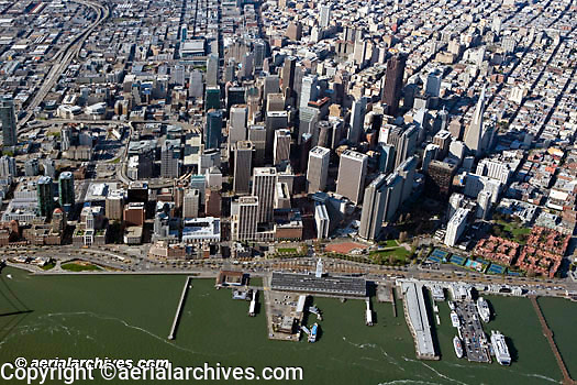 aerial photograph overview waterfront San Francisco California