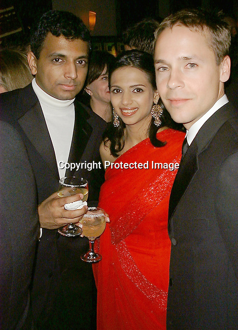 M. Night Shylamalan, wife &amp; Chad Lowe<br />