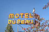Motel Du Beau on Route 66 in Flagstaff Arizona.
