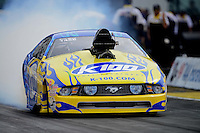 Sept. 30, 2012; Madison, IL, USA: NHRA pro mod driver Mike Janis during the Midwest Nationals at Gateway Motorsports Park. Mandatory Credit: Mark J. Rebilas-