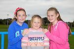 Pictured at the Tralee Rugby Club fun day on Saturday were l-r Elaina Gannon Clodagh Murray Lara Flynn