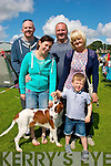 Admiring a Irish Red Setter at the Castleisland dog show last Saturday were Liz,Dara,James,Arron and Shelia O'Connor from the town.
