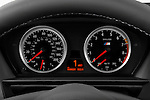 Instrument panel close up detail view of a 2008 BMW M5 Sedan