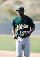 Chris Carter - Oakland Athletics - 2009 spring training.Photo by:  Bill Mitchell/Four Seam Images